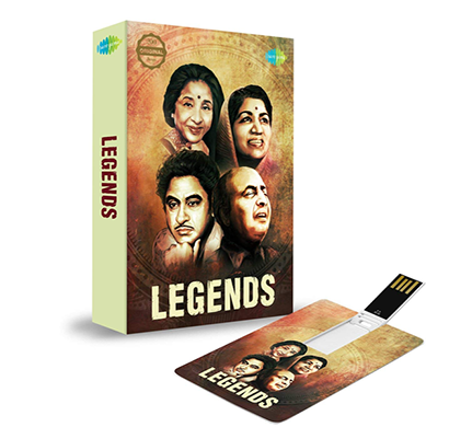 saregama music card legend (320 kbps mp3 audio) 4 gb usb memory stick