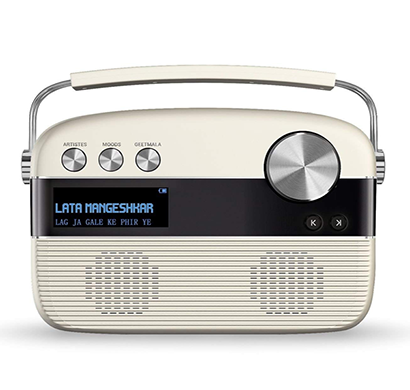Saregama Carvaan - Marathi (With Remote) Portable Digital Audio Player (Porcelain White)