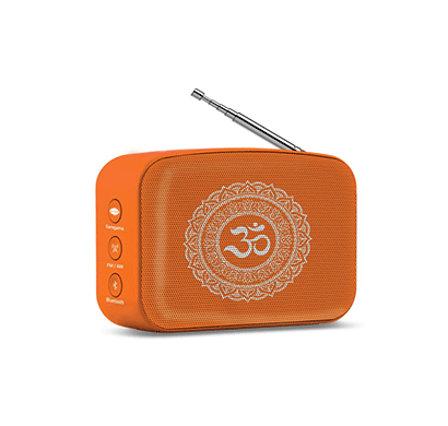 saregama carvaan mini bhakti bluetooth speaker/300 devotional songs/ fm-am radio/bluetooth/usb (orange)
