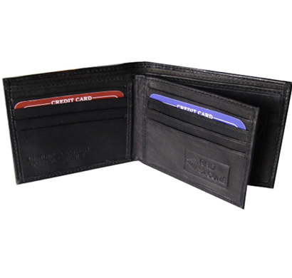 saw - 626, bi-fold wallet leather, black