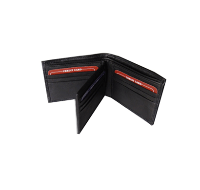 Saw 1010 Bi-fold Leather Wallet Black