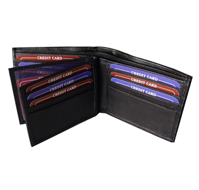 Saw 1038 Bi-fold Leather Wallet Black