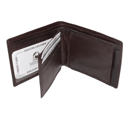 saw 013 leather wallet dark brown