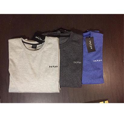 Seven Mens Round Neck Full Sleeve Cotton Sweat T Shirt