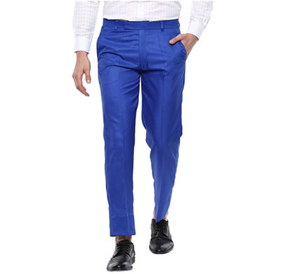 Shaurya-F Regular Fit Men Trousers/ Size 30/ Royal Blue