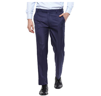 Shaurya-F Regular Fit Men Blue Trousers/ Size 34/ Dark Blue