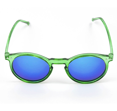 SIETE 400 UV Protected Sunglasses, Spain, unisex, Oval, medium size Green