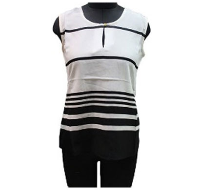 silver ladies ivory polyester sleeveless top