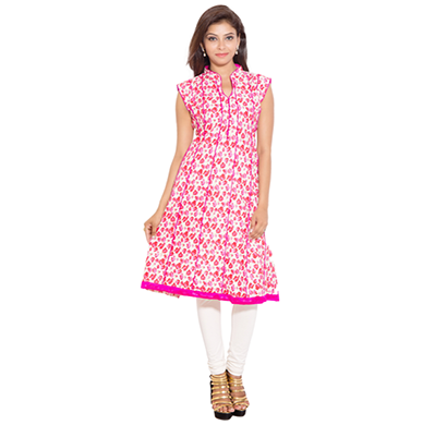 SML Originals- SML_698, Beautiful Stylish 100% Cotton Kurti, L Size, Pink