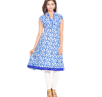 SML Originals- SML_698, Beautiful Stylish 100% Cotton Kurti, M Size, Blue