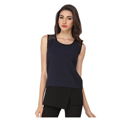 SOIE Casual Sleevless Tunic (Navy Blue and Red)