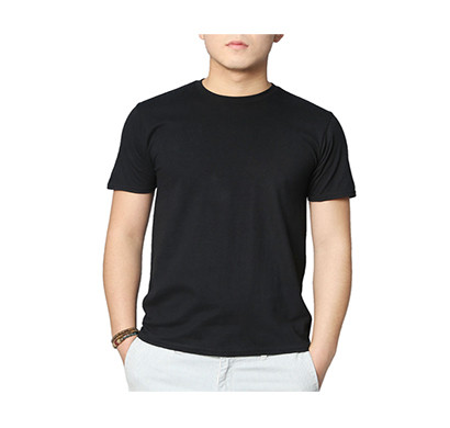 sports man round neck h/s t-shirts/ black
