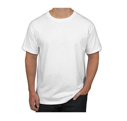 sports man round neck h/s t-shirts/ white