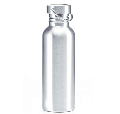 steel fridge bottle with steel holder single wall 800 ml