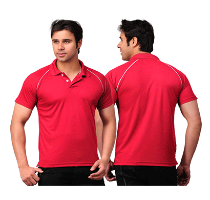 sulfa 100anb (200 gsm drifit) gym/ athletic/ sports polo coller t-shirt red