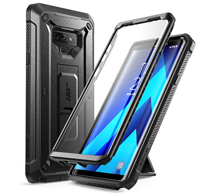 supcase galaxy note 9-unicorn beetlepro sp series full-body rugged holster cover case (black)
