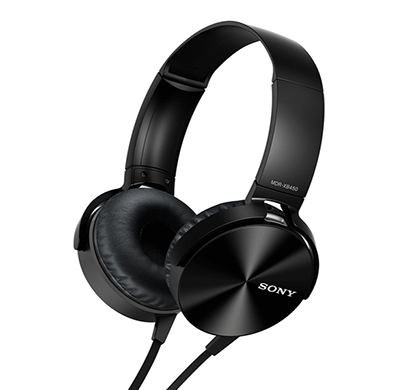 sony mdr-xb450 lqen on-ear extra bass headphones (black)