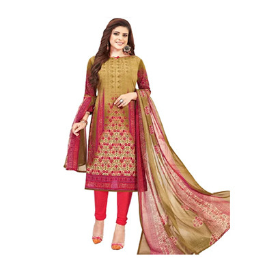 TENDISHA (2751) Synthetic Printed Unstitched Dress Material (Multi)