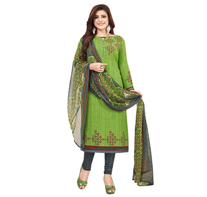 TENDISHA (2753) Synthetic Printed Unstitched Dress Material (Multi)