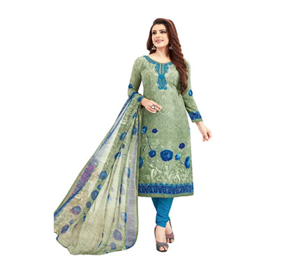 TENDISHA (2756) Synthetic Printed Unstitched Dress Material (Multi)