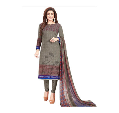 TENDISHA (2757) Synthetic Printed Unstitched Dress Material (Multi)