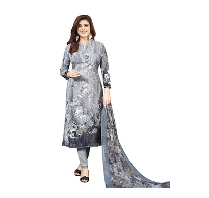 TENDISHA (2775) Synthetic Printed Unstitched Dress Material (Multi)