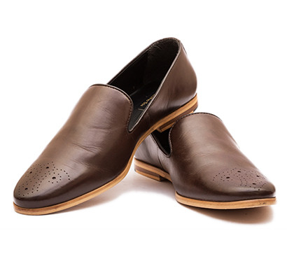 the leather box calf leather the debonair brown brogue loafers mens shoes