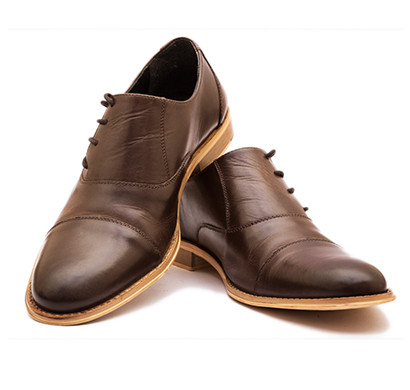the leather box (33119) calf leather the valiant captoe side lace oxford mens shoes