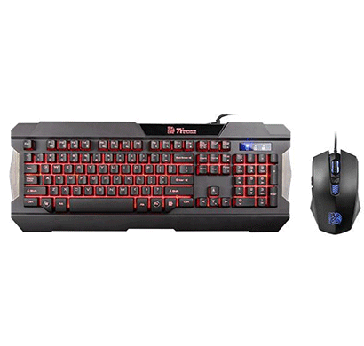 thermaltake kb-ccm-plblus-01 commander combo multi backlit vesion keyboard mouse combo
