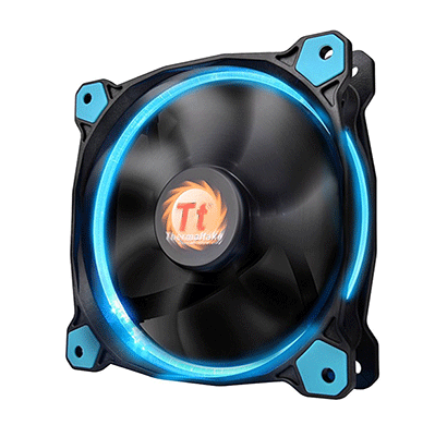 thermaltake (cl-f058-pl12bu-a) riing 12 high static pressure led radiator fan (blue)