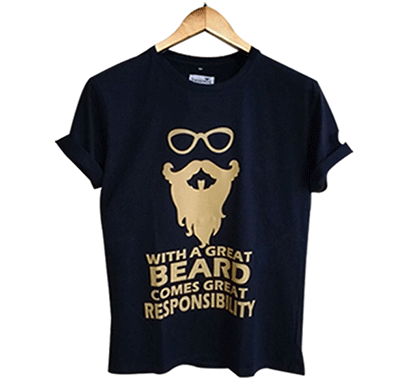 trendzwing tw001 beard t-shirt navy blue