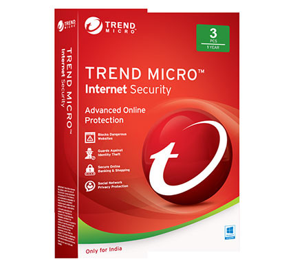 trend micro internet security (3users/1year)