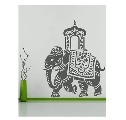 enormous kart royal elephant on wall small animal sticker (pack of 1)