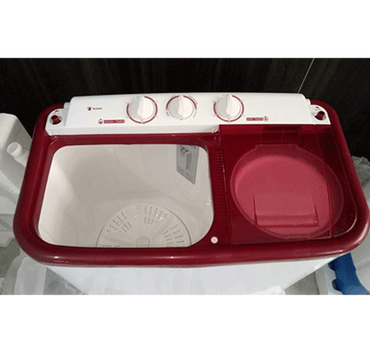 unbranded 6.5kg semi washing machine maroon and white (1 year warranty)