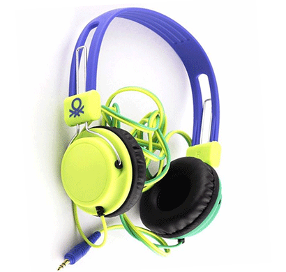 United Colors of Benetton HeadPhone Use Your Head Green 902 Blue