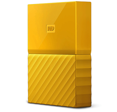 wd my passport 4tb usb 3.0 portable external hard drive (yellow)