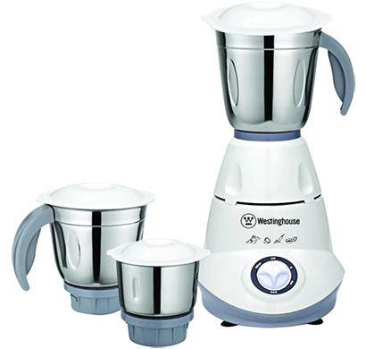 westinghouse- mm50w3a-ds, 500 watt mixer grinder compact design with 3 jars, grey, 1 year warranty