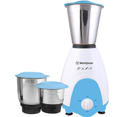 Westinghouse - MU50GB3A-DR, Elegant Designer 500-Watt Mixer Grinder with 3 Jars, Blue/White, 1 Year Warranty