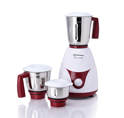 westinghouse- mx75wm3a-dr, 750-watt mixer grinder with 3 jars, white/maroon, 1 year warranty