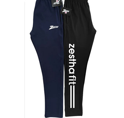 zestha mens 4 way drifit track pant black, blue