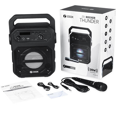 Zoook Thunder Rocker 20 watts Bluetooth Speaker with Karaoke Speaker