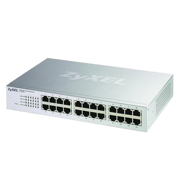 ZyXEL ES-124P 24-Port Desktop Ethernet Switch