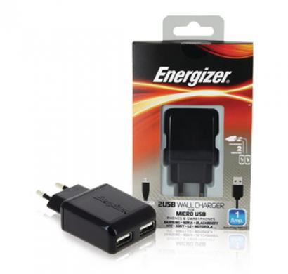 energizer classic wall charger 2 usb for nokia devices (eu plug) black