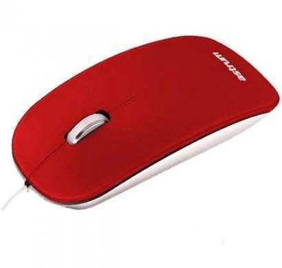 astrum aero smart rd wired optical mouse(usb, red)