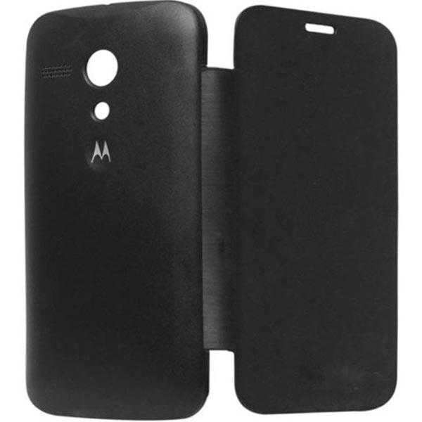 Big Zee Flip Cover For Motorola Moto E Xt1022 With Screen Guard (Black)