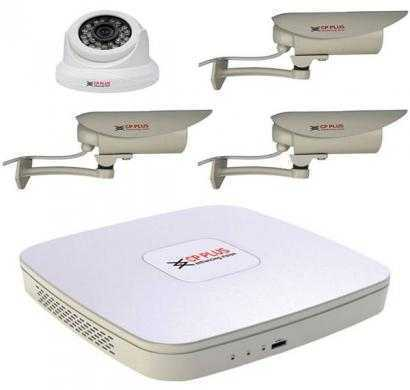 CP Plus CP-UAR-0400P1 4 Channel DVR (White) With 3 Bullet IR + 1 IR Dome -620 TVL Camera