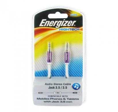 energizer audio stereo cable, metal serie for mobiles 1.5m purple