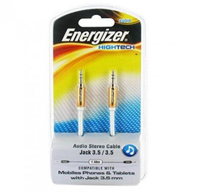 energizer audio stereo cable, metal serie for mobiles1,5 m orange