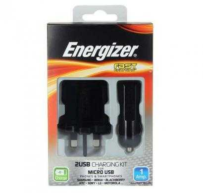 Energizer charging kit 2USB 1Amp for Micro-USB devices