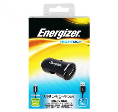 energizer hightech car charger 1 usb for micro-usb devices black